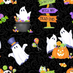 Glow Ghosts Tossed Ghosts, Pumpkins and Candy