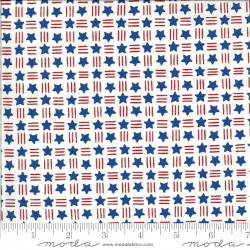 America the Beautiful Stars and Stripes on White