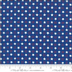 America the Beautiful Stars on Blue