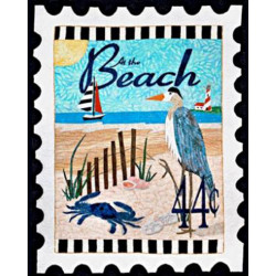 At the Beach Stamp Mini Fabric Panel