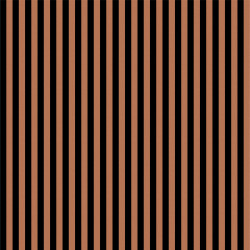 Stof-Copper Stripe on Black