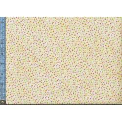 Multi Color Dots on Cream