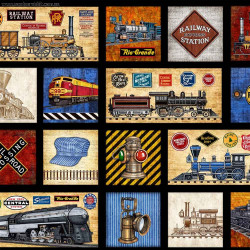 Full Steam Ahead--motif patches