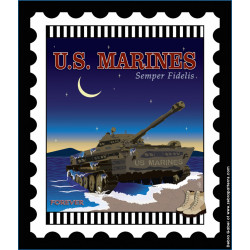 US Marines Stamp