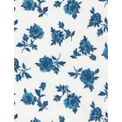 Blue Sky White Blue Roses