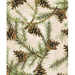 Christmas in the Wildwood--Pinecones on cream