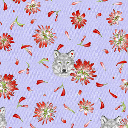 Indian Paintbrush--Lavender w/wolves