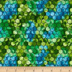 Ellery Honeycomb Green