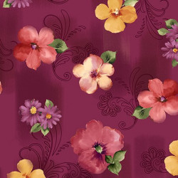 Sophia Spaced Floral Cranberry