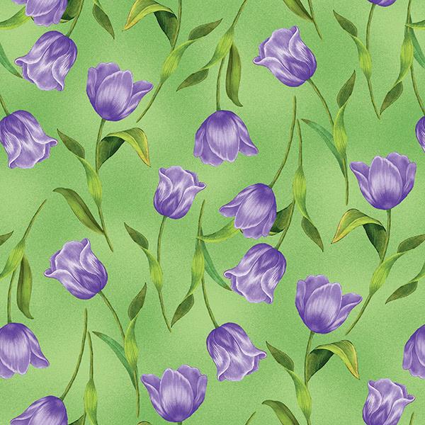 Garden Gathering Purple Tulips
