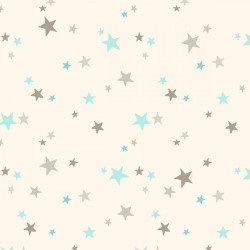 Flannel Blue/Gray Stars on Cream