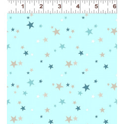 Flannel Blue/Gray Stars on Blue