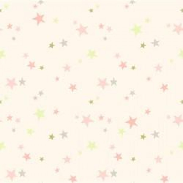 Flannel Gray/Pink Stars on Pink
