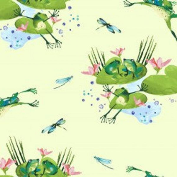 Frogs on Green