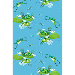 Frogs on Blue