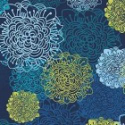 Flowers on Dk. Blue