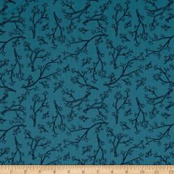 Twigs on Dk. Blue