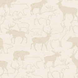 Flannel Woodland Retreat Deer on Cream