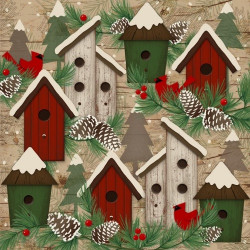 Flannel Woodland Retreat Birdhouses