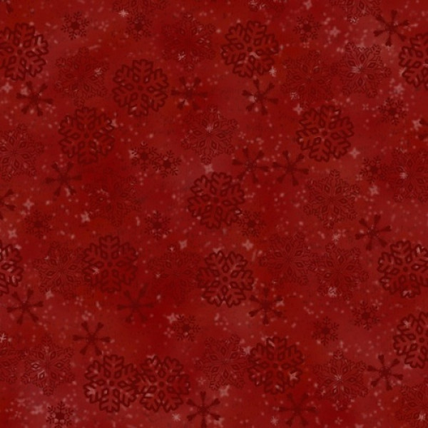 Flannel Woodland Retreat Snowflakes Red