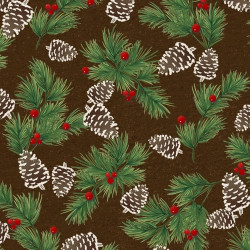 Flannel Woodland Retreat Pinecones