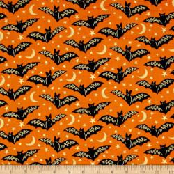 Midnight Spell Bats on Orange