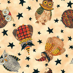 Too Cute to Spook Owls on Cream