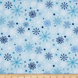 Snow Happy Snowflakes on light blue