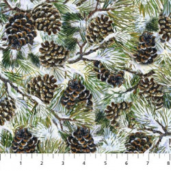 Winter Chickadees Pine Cones
