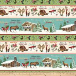 Spruce Mountain Border Print