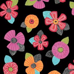 Jamboree tossed Floral Black