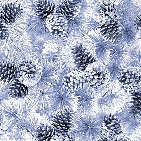 Pearl Pine Cones Silver Gray