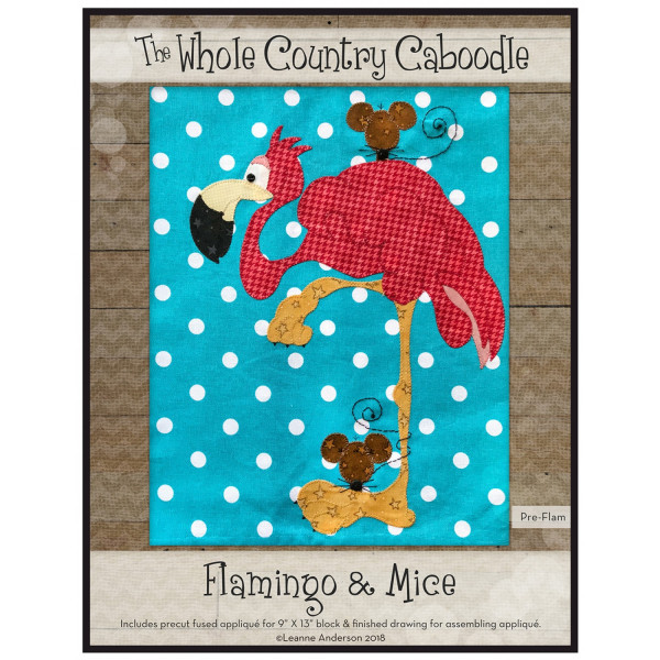 Flamingo Precut Fused Applique Kit