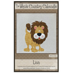Lion Precut Fused Applique Kit