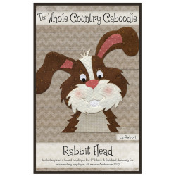 Rabbit Head Precut Applique
