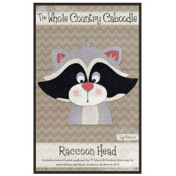 Raccoon Head Precut Applique