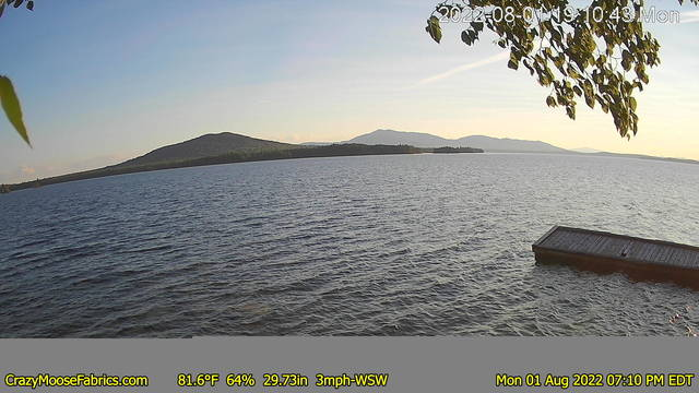 moosehad lake webcam